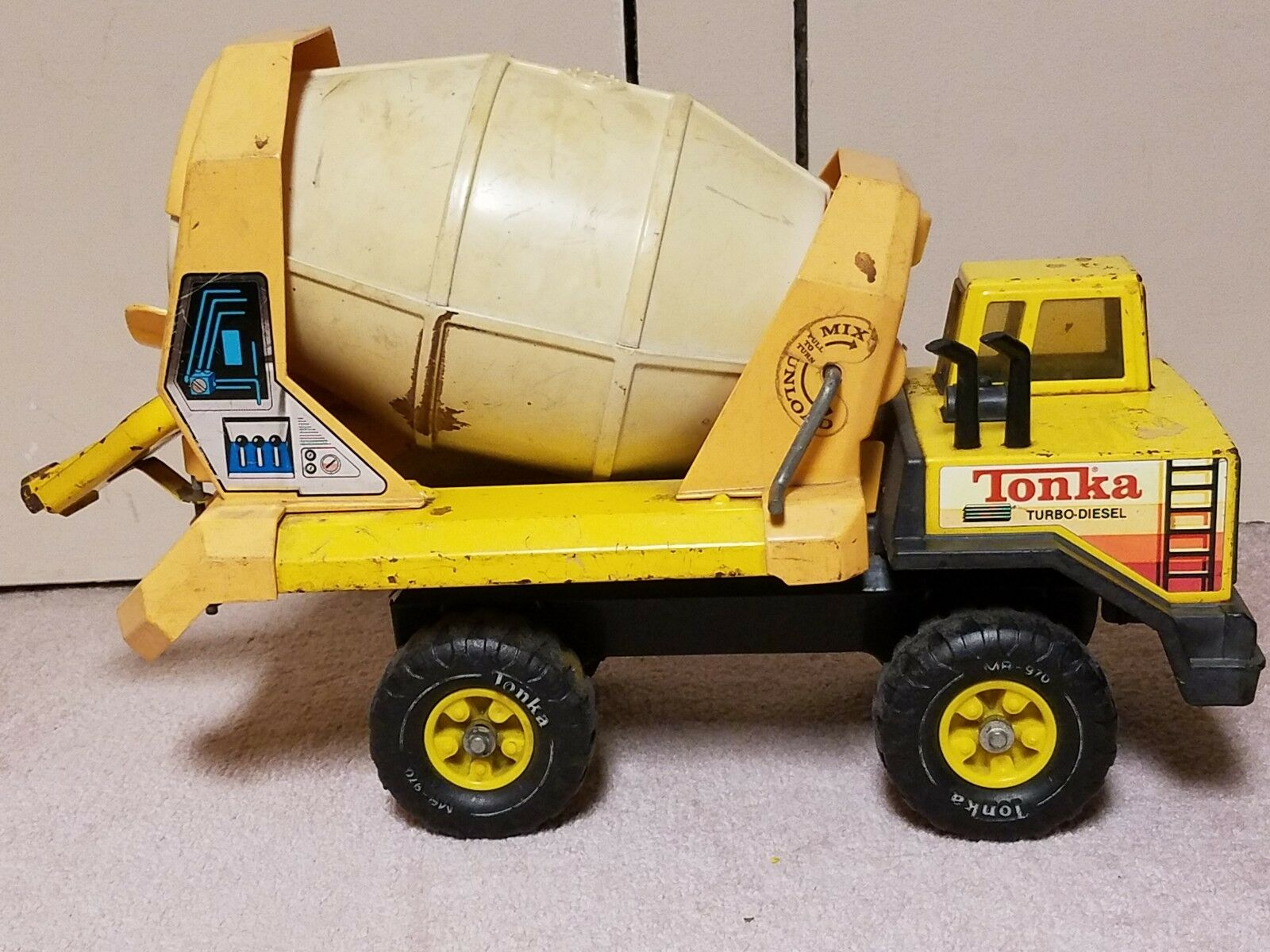Tonka Concrete Mixer Turbo Diesel Vintage 1970s 19 inches long