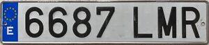 Spain Euroband Aluminium Number Spanish Euroband License Plate 6687 LMR