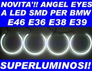 KIT ANGEL EYES LED SMD per BMW E36 E38 E39 E46 NO CCFL