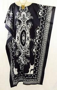 New-BALI-Beautiful-Cotton-Kaftan-Dress-Batik-One-Size-Plus-Beach-Black-Red-Blue