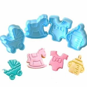 Fondant Plunger Cake Tool Parent-child Christmas Biscuit Mold Cookie Cutter