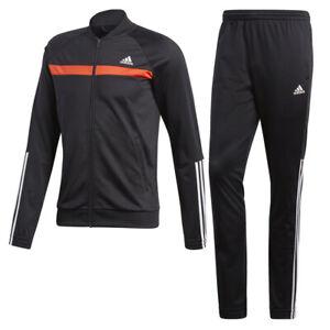am besten billig Großhandel Luxus Details zu ADIDAS Herren Trainingsanzug Fussballanzug Sport/Jogginganzug  schwarz/rot 6/M/50