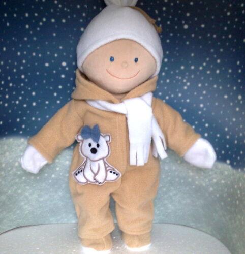 Schneeanzug,Mütze,Schuhe,Schal,Handschuhe 2farbig passend für KRÜMEL  43 cm  Neu Babypuppen & Zubehör Puppen & Zubehör
