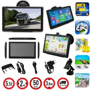 7-Zoll-LKW-Navigationsgeraet-Navi-GPS-Navigation-PKW-Europa-Blitzer-MP3-Video