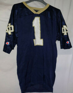 official photos 470d1 11bcd Details about Vintage #1 Champion Notre Dame Fighting Irish Football Jersey  NCAA Sz M