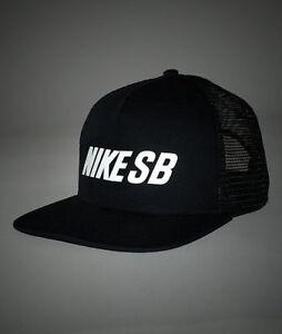 Image is loading Nike-SB-Trucker-Black-Cap-Reflective-Hat-Snapback- c0031bffc82