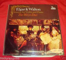 """ELGAR & WALTON SONATAS FOR VIOLIN AND PIANO THE WEISS DUO 12"""" VINYL RECORD"""