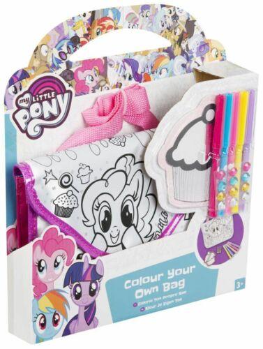 My Little Pony colore il tuo totebag (marcatori, Gemma Adesivi, specchio) Craft Set
