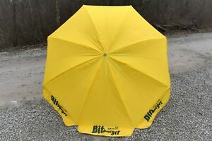 Bitburger Beer Patio Umbrella Yellow 6 Foot