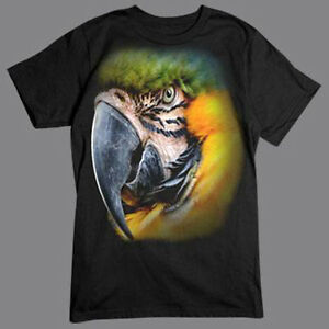 2866e79e8 Macaw Exotic Parrot Bird Big In Your Face Funny Animal T-Shirt Tee ...