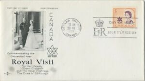 CANADA-1967-Royal-Visit-unaddressed-FDC-JD2244