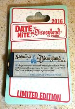 NEW Disneyland Park 2016 Disney Date Nite E Ticket Book Hinged Pin LE 1000