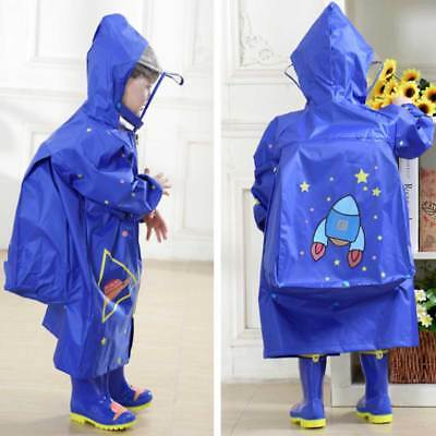 Regenponcho Regenmantel mit Kapuze Mädchen Jungen Kinder Regenjacke Regenschutz