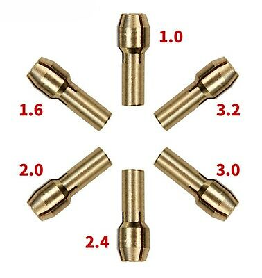 10x Collet Chuck Screw Nuts Rotary Tools Metal 0.5mm-3.2mm Replacement Parts Kit