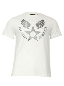 Avirex-Men-039-s-Wingstar-Short-Sleeve-Crew-Neck-Cotton-T-Shirt