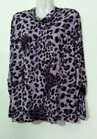 Simonton Says George Simonton Animal Print Turtleneck L Large 14-16 Qvc
