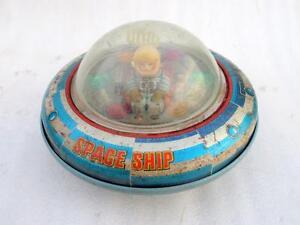 Vintage-Old-MT-Trademark-X-5-Space-Explorer-Ship-Battery-Litho-Tin-Toy-Japan