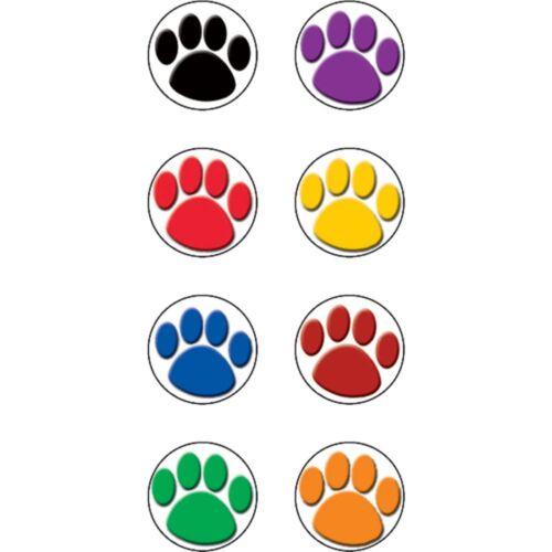 "Colorful Paw Prints Mini Stickers 3//8/""Dia 528//pkg Teacher Created Resources TC"