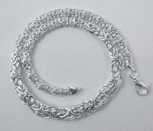 Byzantine 6.5 mm à 11 mm Graduée Collier Argent Sterling .925 16,18,20,24 pouces