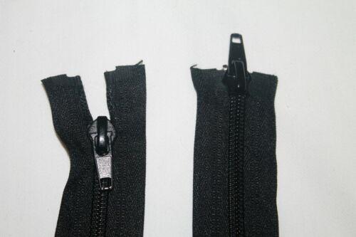 2 Wege Reißverschluss Teilbar Spirale Zähne Zipper Nummer 5 Jacke 100 cm Schwarz