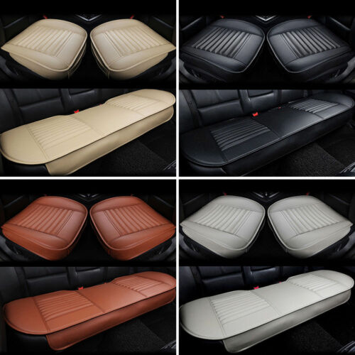Universal PU Leather Bamboo Charcoal Car Seat Cover Cushion Breathable Pad Mat L