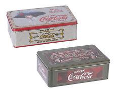 Retro Style Coca Cola Rectangular Hinged Storage Tin,Biscuit Tin, Pencil Tin
