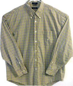 Nautica-Mens-Size-XL-Long-Sleeve-Button-Front-Button-Down-Checks-amp-Plaids-Shirt