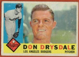 1960-Topps-475-Don-Drysdale-VG-VGEX-Marked-Los-Angeles-Dodgers-FREE-SHIPPING