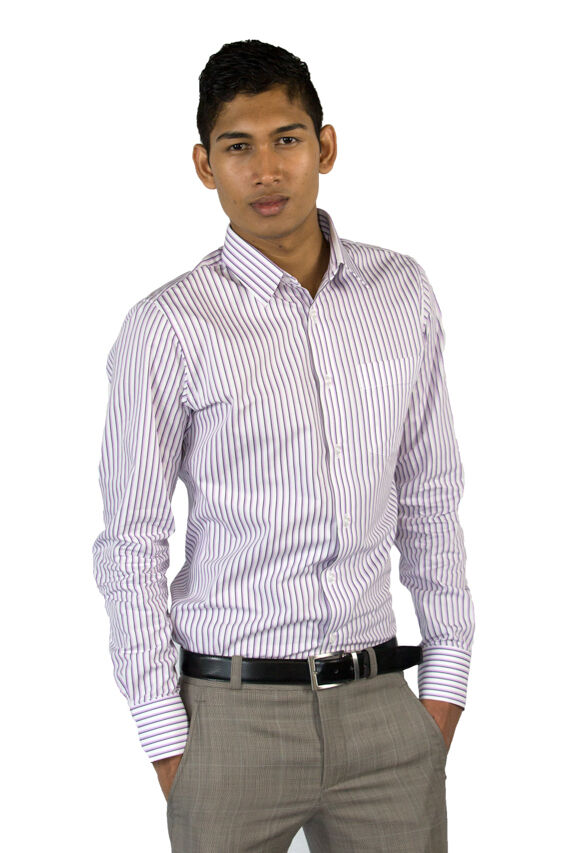 Mens Tailored Shirt - Perfect Fit Guarantee with Suit Me Up
