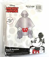 Disney Adult Mickey Mouse Parts Clear Rain Poncho Keep Dry