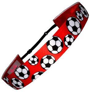 "Girls Soccer /""True Colors/"" VIBRANT Colors Non Slip Adjustable Headband"