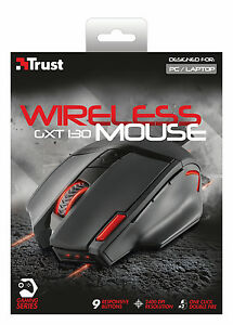 NEW-TRUST-20687-WIRELESS-OPTICAL-GAMING-MOUSE-GXT130-ADJUSTABLE-800-TO-2400-DPI