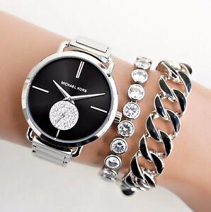 0c9479b4d135 Michael Kors Watch Women s Watch Mk3638 Portia Color Silver Black ...