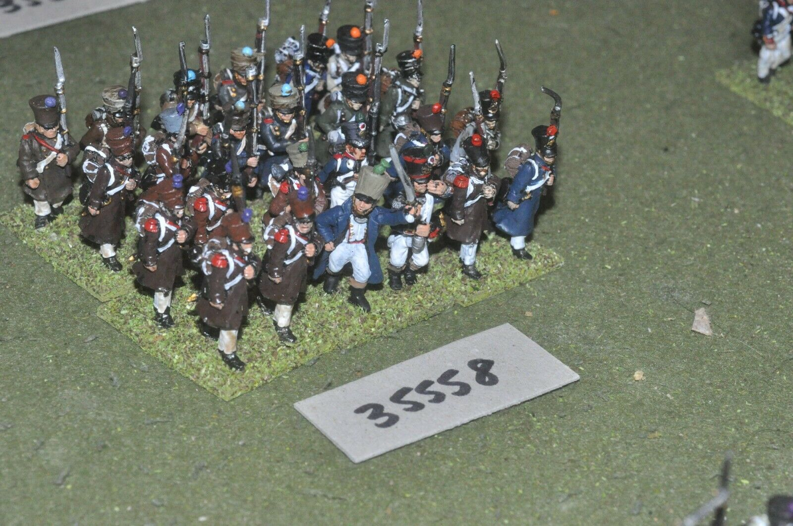 25mm napoleonic   french - regiment 24 figures - inf (35558)