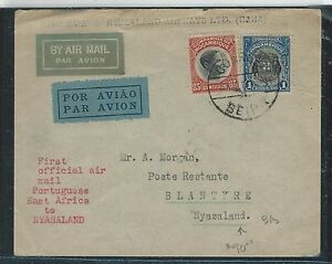 MOZAMBIQUE (P2912B) FIRST OFFICIAL A/M MOZAMBIQUE TO NYASALAND, B/S