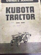 Kubota Diesel Tractor B6000 Owners Manual Amp Illustrated Parts List Manual