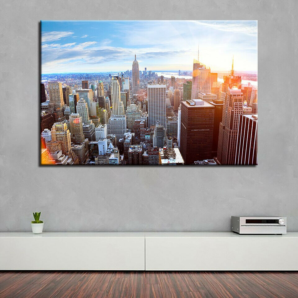 Empire State Building New York City 1 Panel Canvas Print Wall Art