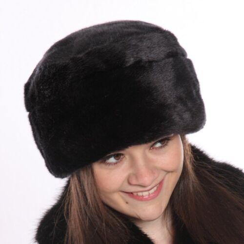 2 tailles rapide 1st classe post Mesdames hawkins luxe noir en fourrure synthétique pilulier chapeau