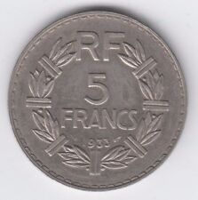 France Lavrillier, 5 Francs, 1933, Paris, Nickel, KM:888, Gadoury:760