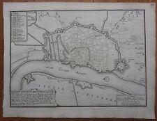 De Fer: Plan of Antwerpen Belgium - 1695
