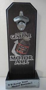 Harley Davidson Motor Ale Wall Mount Bottle Opener New