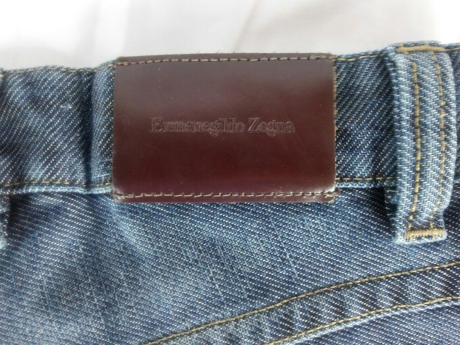 Ermenegildo Zegna Denim bluee Jeans 33 Slim Skinny