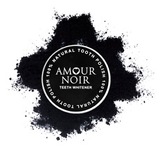 Amour Noir Tooth Polish - Activated Charcoal Teeth Whitening with Active Carbon