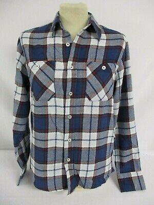 Acquista A Buon Mercato Fsbn-blue & Red Check Camicia-uomo-taglia Xs-cotone Spazzolato-manica Lunga-mostra Il Titolo Originale