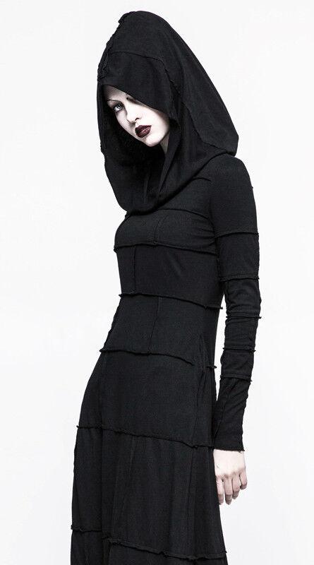 Robe longue capuche gothique punk lolita fashion coutures mystique mystique mystique dark Punkrave 680d6f