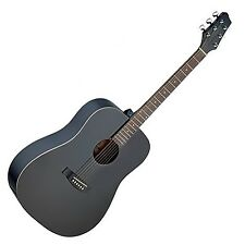 Stagg SA30D-BK Dreadnought Guitarra acústica-negro