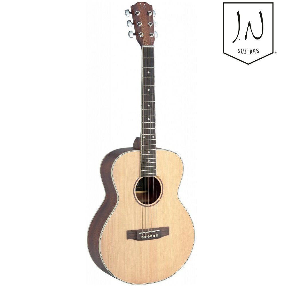 J.N Guitars Asyla Series Mini Traveler Größe Auditorium Acoustic Guitar Natural