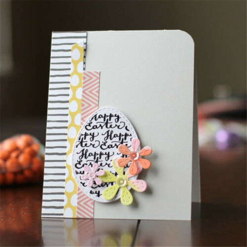 Easter Egg Letter Cutting Dies Stencil Machine Scrapbook Cut Embossing Accessory