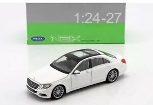 Welly-1-24-White-Mercedes-Benz-S-Class-S500-Diecast-Model-Car-24051WHT