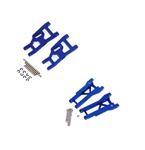 Traxxas Slash 2wd STRC bluee Aluminum A-Arms Arm Set Front & Rear with Hinge Pins